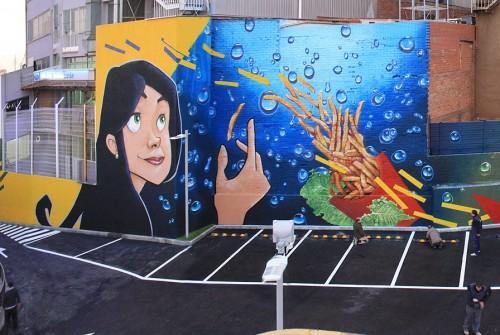 """""""MC DONALDS"""" (Esplugues de Llobregat) 2012 – Baie, Ma'La, Cayn, Urih"""