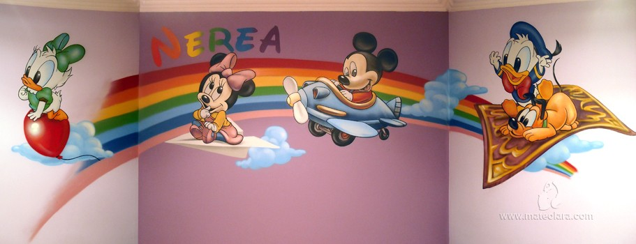 Disney archives p gina 3 de 4 pintura mural barcelona mateo lara - Mural habitacion infantil ...
