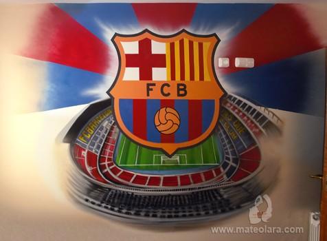 Campo futbol archives p gina 2 de 2 pintura mural - Pintura mural barcelona ...