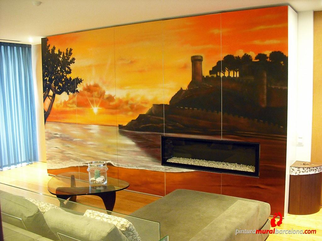 Armario castillo tossa de mar 2012 espray pintura - Pintura mural barcelona ...