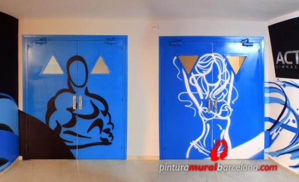 Mural Graffiti Gimnasio Bodybuilding Pintura Mural
