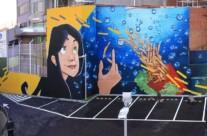 MC DONALD'S – 40 x 8.5m.(340 m2), Esplugues de Llobregat (Spain). 2012 Copyright [Base de pintura plástica y espray]