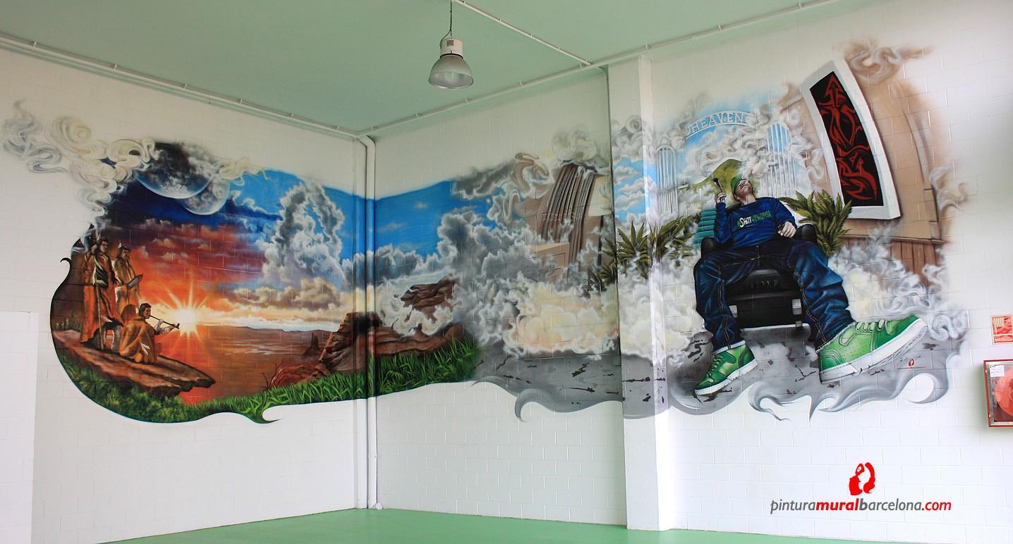 Pintura mural barcelona mateo lara murales tattoo design - Pintura mural barcelona ...