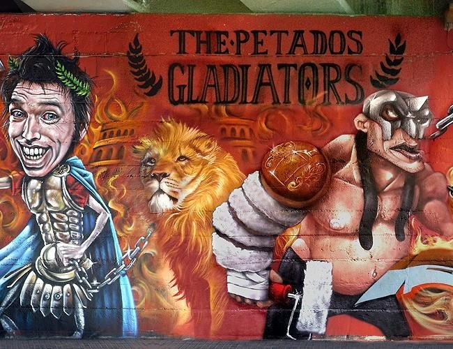 Rubi Spain  city images : Mural con PETADOS CREW Urih, Kets, Axia, Ma'La , Baie, Cayn y Resm ...