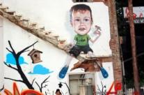 GRAFFITI … DE PAJAREO – Mataró (Spain). 2013 Copyright [Espray]