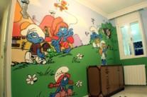 LOS PITUFOS – Habitación infantil. 2013