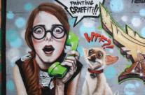 """THEY ARE PAINTING GRAFFITI!! WTF?!"" – Rubí. ©2014 [Spray]"