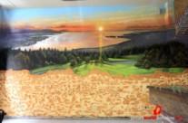 "MURAL GRAFFITI PAISAJE ""TRAMPANTOJO"" EN BAR ©2014 [Spray]"