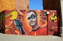GRAFFITI SUPERHÉROE LOS INCREÍBLES – Mataró. ©2014 [Espray]