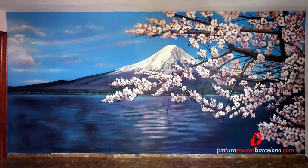 mural-graffiti-monte-fuji-paisajes-3d