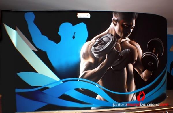 mural,graffiti,fitness,bodybuilding,gym,1