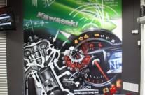 MURAL GRAFFITI KAWASAKI MOTORBIKE