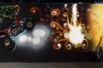 MURAL GRAFFITI MOTO QUAD FREESTYLE