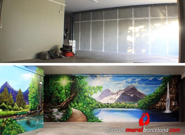 Paisajes 3d murales pintados que transformar n tus for Murales de pared de paisajes