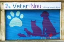 Persiana pintada para veterinario VETERINOU