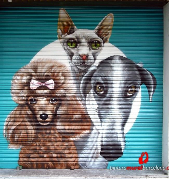Persiana pintada para tienda animales DOGGY DOG