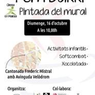 16.10.16 – Graffiti en directo en FEM BARRI CIRERA de Mataró