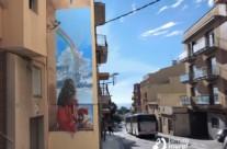 Mural trampantojo en medianera