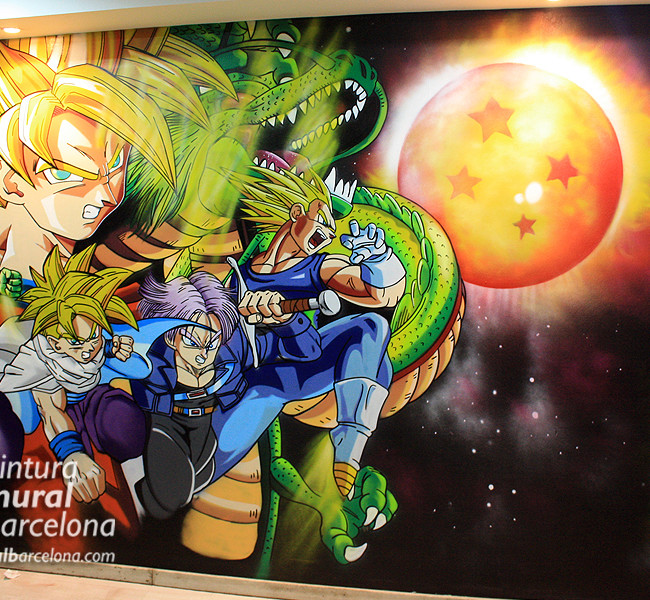 MURAL GRAFFITI DRAGON BALL