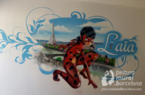 HABITACIÓN LADYBUG MURAL GRAFFITI