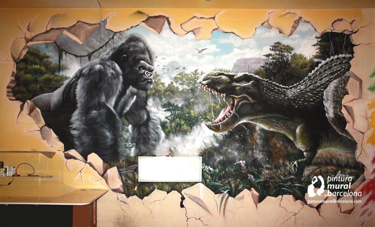 mural-graffiti-kingkong-dino-rex