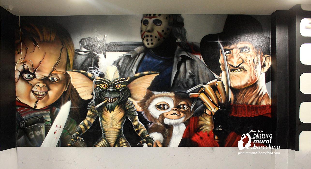 graffiti-peliculas-mural-chuky-gremlins-jason-freddy