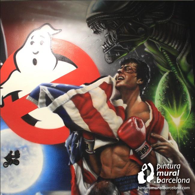 mural-peliculas-graffiti-movies-90-rocky-alien-gosthbusters