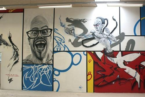 """""""MONDRIAN WALL"""" (Belgium) 2010 – Casroc, Ma'La, Urih, Kets, Resm"""
