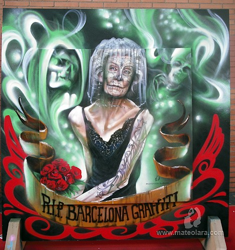 BCN TATTOO 'RIP BARCELONA GRAFFITI', panel 1.8 x 1.8 m. – Barcelona (Spain). 2011