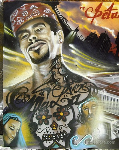 NBQPro+LowRider en Sala Apolo, panel 2×4.5 m. – Barcelona (Spain). 2011 Copyright [Espray]