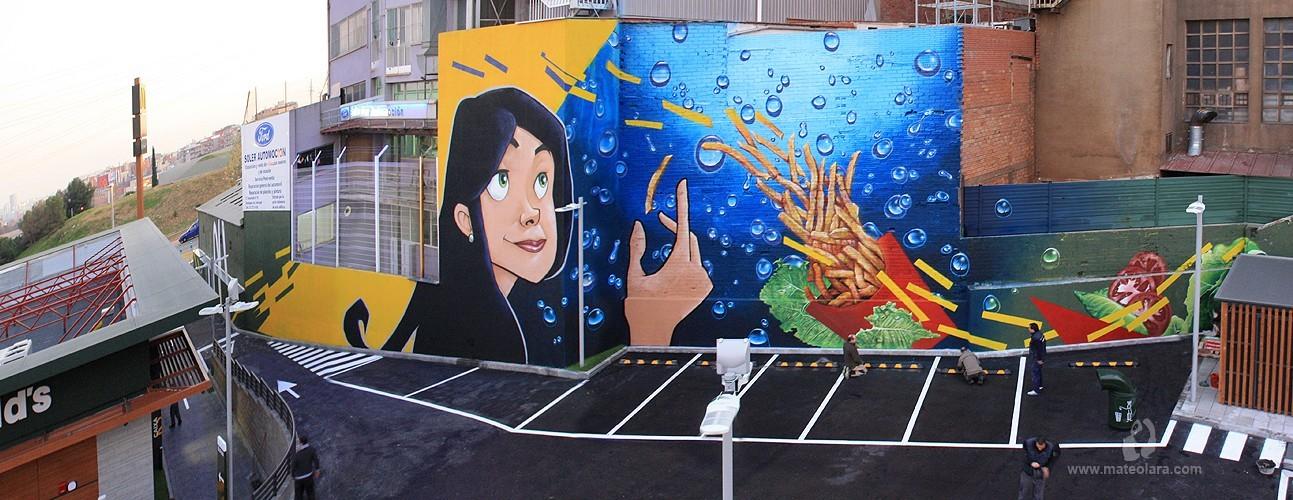 Gran Mural Graffiti Mc Donald's Esplugues de Llobregat