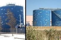 DEPÓSITOS BURBUJAS EMERGENTES – 15m.diámetro x 17m.(1.600 m2), Mataró (Spain). 2012 Copyright [Espray]