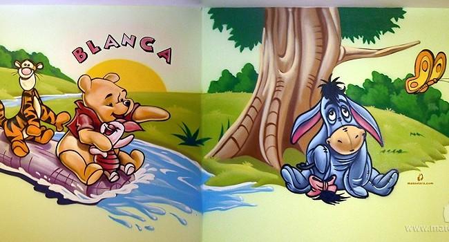 WINNIE THE POOH – Habitación infantil. Vilassar de Mar (Spain). 2011 Copyright [Espray y posca]