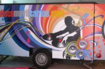 DISCO MOVIL CARLOS, 6 x 1,5 m. – Mataró (Spain). 2010 Copyright [Espray]