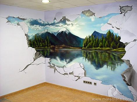 My dream sala matar spain 2009 copyright espray for Murales en 3d para salas