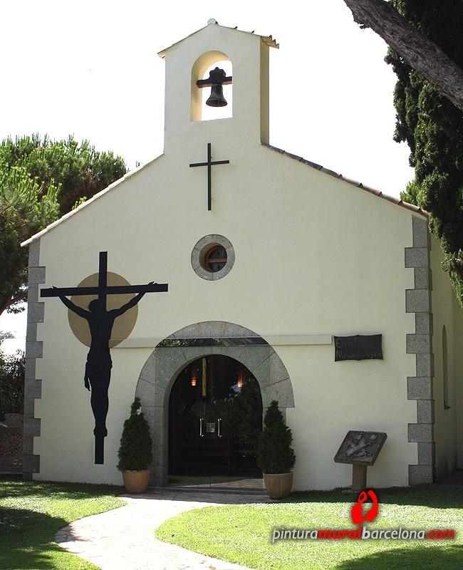 FACHADA ERMITA ROMÁNICA, St.Vicenç de Montalt (Spain). 2012 Copyright [Espray]
