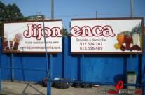 JIJONENCA en C.E. PREMIÀ – Panel publicitario, 6×1,5m. Premià de Mar (Spain). 2012 Copyright [Espray]