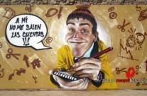 LA CRISIS, panel 5×2.4 m. – Mataró (Spain). 2012 Copyright [Espray]