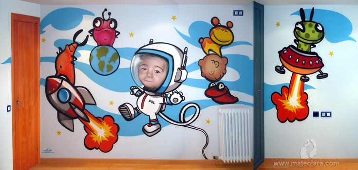 ASTRONAUTA POL – Habitación infantil. Vilassar de Mar (Spain). 2010 Copyright