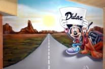 MICKEY Y PLUTO – Habitación infantil. Premià de Dalt (Spain). 2010 Copyright [Espray]