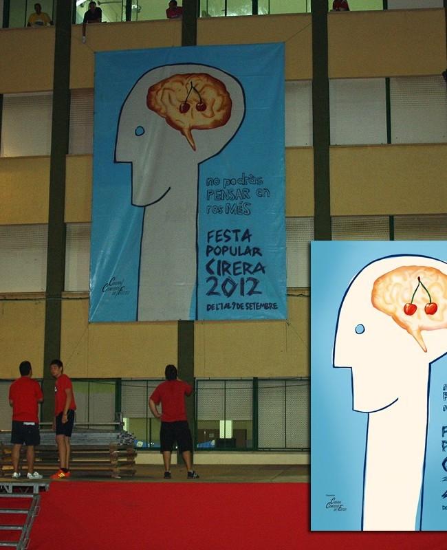 CARTEL FIESTAS CIRERA 2012, 8 x 6 m. Mataró (Spain). 2012 Copyright