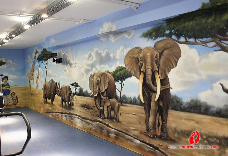 detalle-elefantes-mural-mateo-lara-barcelona-africa