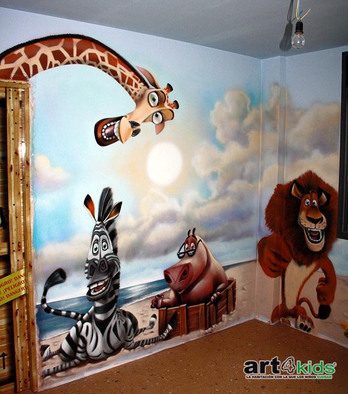 habitacion-infantil-madagascar-pinguinos-alex-gloria-detalle