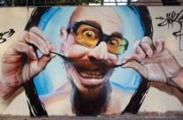 GRAFFITI REALISTA EL BIGOTES EN MATARÓ