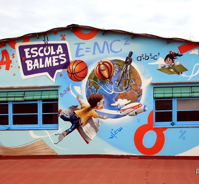 PATIO ESCUELA BALMES, 12,5 x 4 m. Mataró (Spain).  ©2013 [Espray]