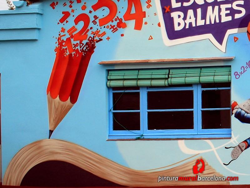mural-graffiti-patio-escuela-balmes-lapiz-detalle-2