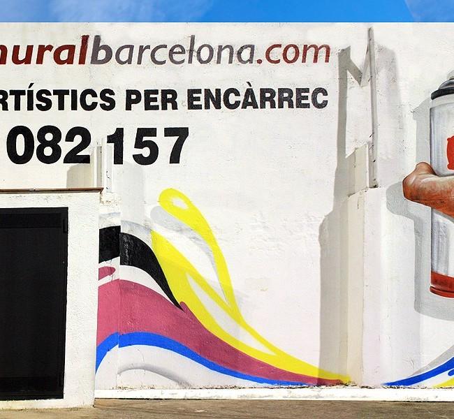 PUBLICIDAD PINTADA 7,5 x 4m. – Campo de Fútbol C. E. MATARÓ (Spain). ©2013 [Espray]