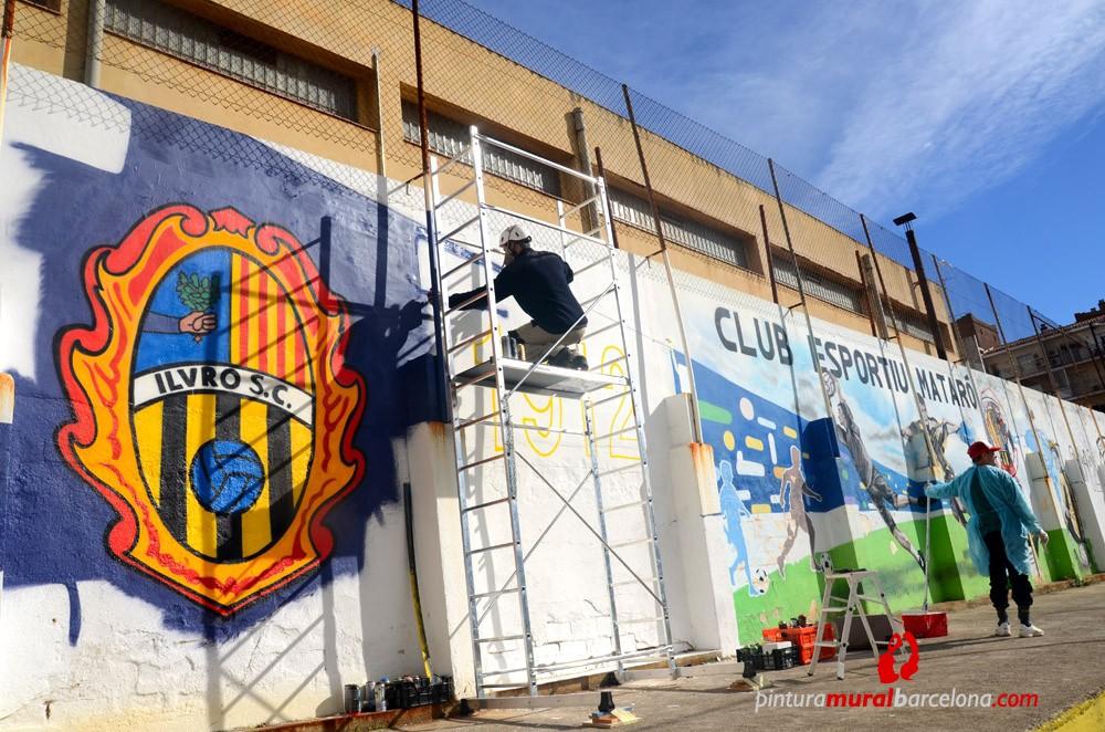 Club esportiu matar 30 x 4 m matar spain 2013 - Pintura mural barcelona ...