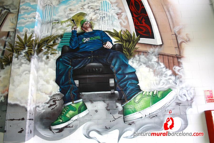 mural-graffiti-sant-yerbasi-fumador-mataro-mateo-lara