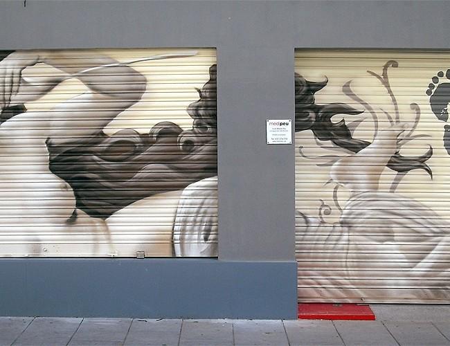 Persiana MEDIPEU – C/Juan Sebastian Elcano 1-3, Mataró (Spain). ©2013 [Espray]